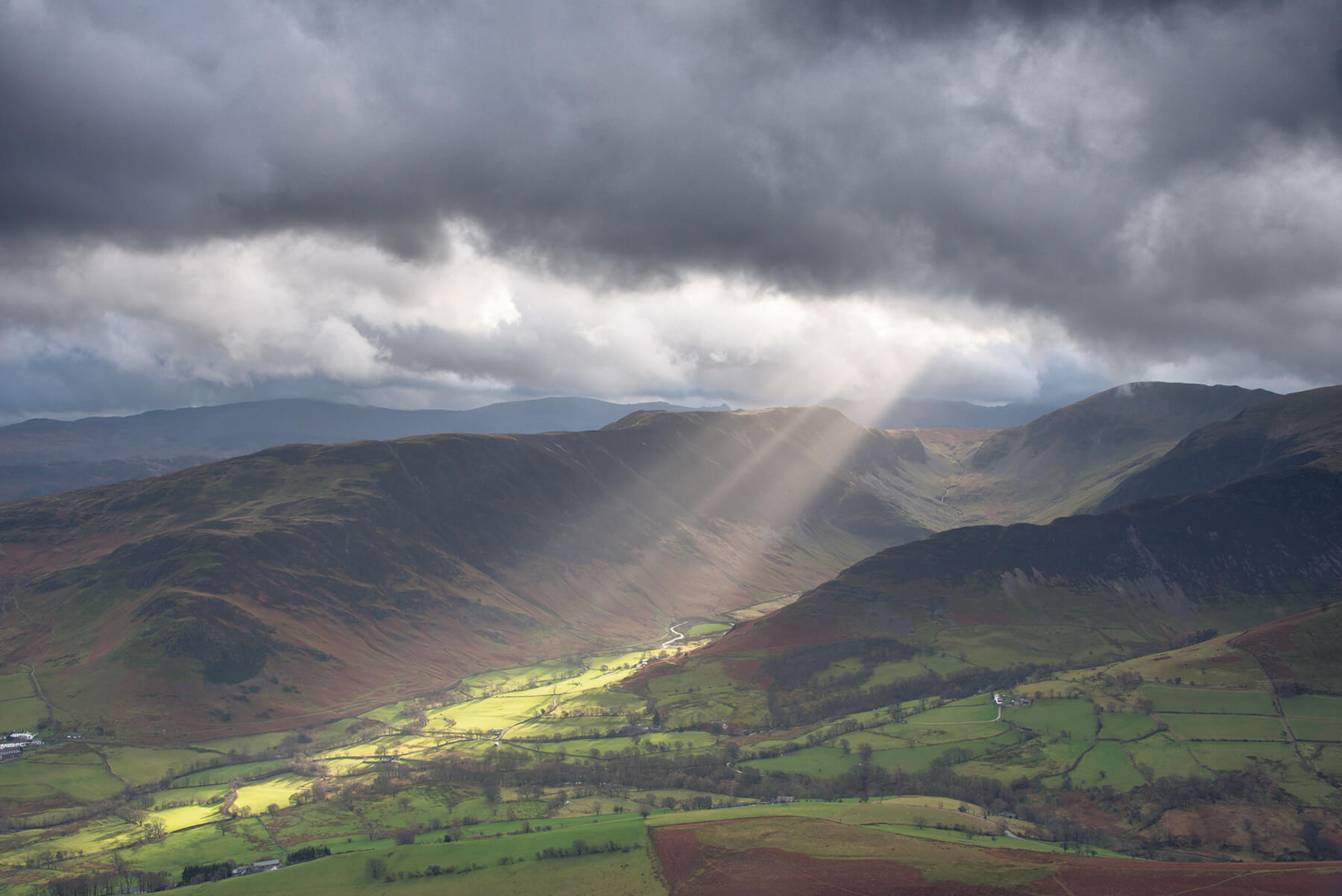 Landscape and sun rays