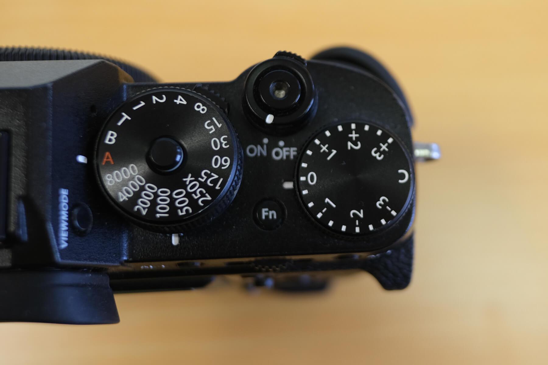 Camera exposure compensation dial