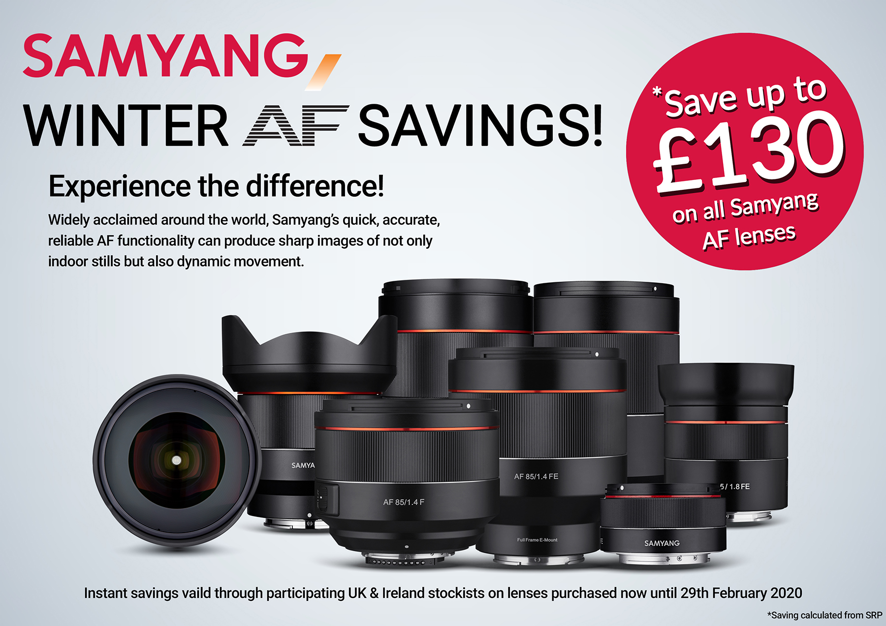 Samyang AF lens winter savings