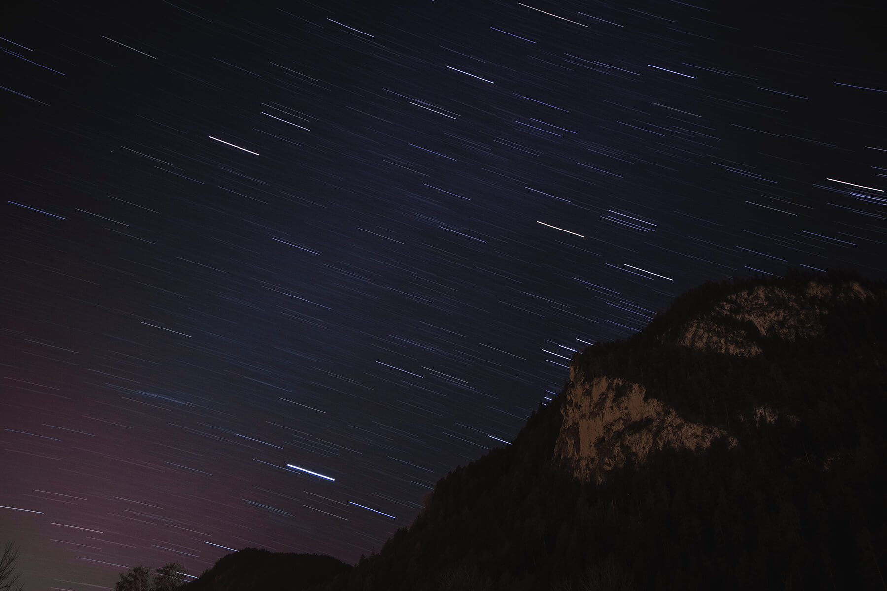Astrophotography star trail