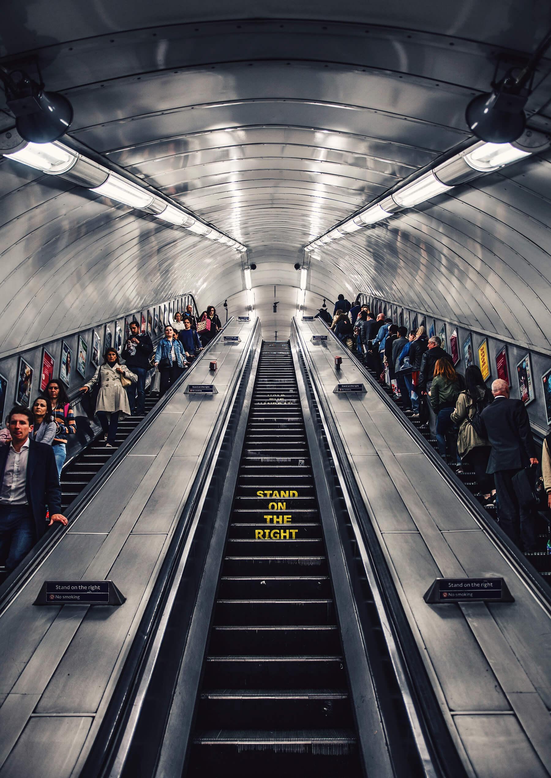 London underground street photography